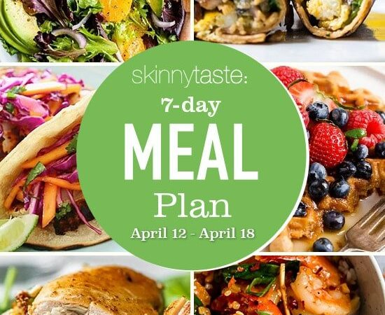 7 Day Healthy Meal Plan (April 12-18)